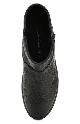 Женские кожаные ботинки SANTONI черного цвета, арт. WBCE60482NEAPWISN01 | Фото 5