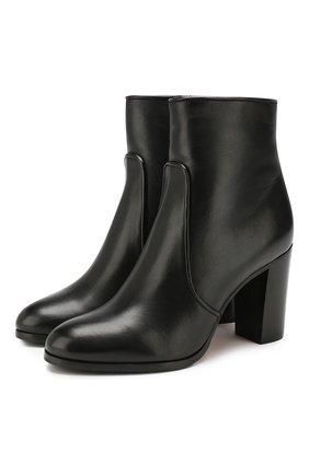 Женские кожаные ботильоны SANTONI черного цвета, арт. WT0G57596HI1ALGAN01 | Фото 1