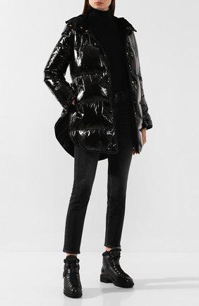 Женские кожаные ботинки SANTONI черного цвета, арт. WTSL58309R0CAILRN01 | Фото 2