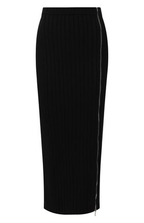 Женская шерстяная юбка PALM ANGELS черного цвета, арт. PWHI007E196850371000   Фото 1