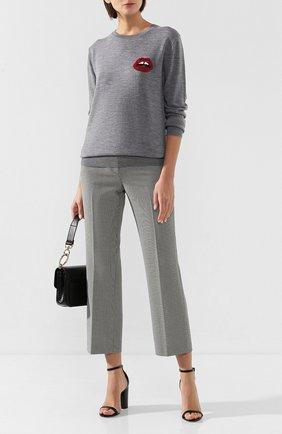 Женская шерстяной пуловер MARKUS LUPFER серого цвета, арт. CKN013 | Фото 2