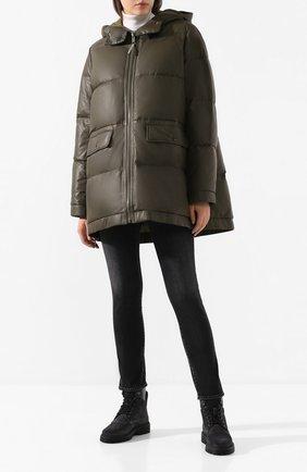 Женский пуховая куртка YS ARMY PARIS хаки цвета, арт. 20WFV02676D0CU | Фото 2