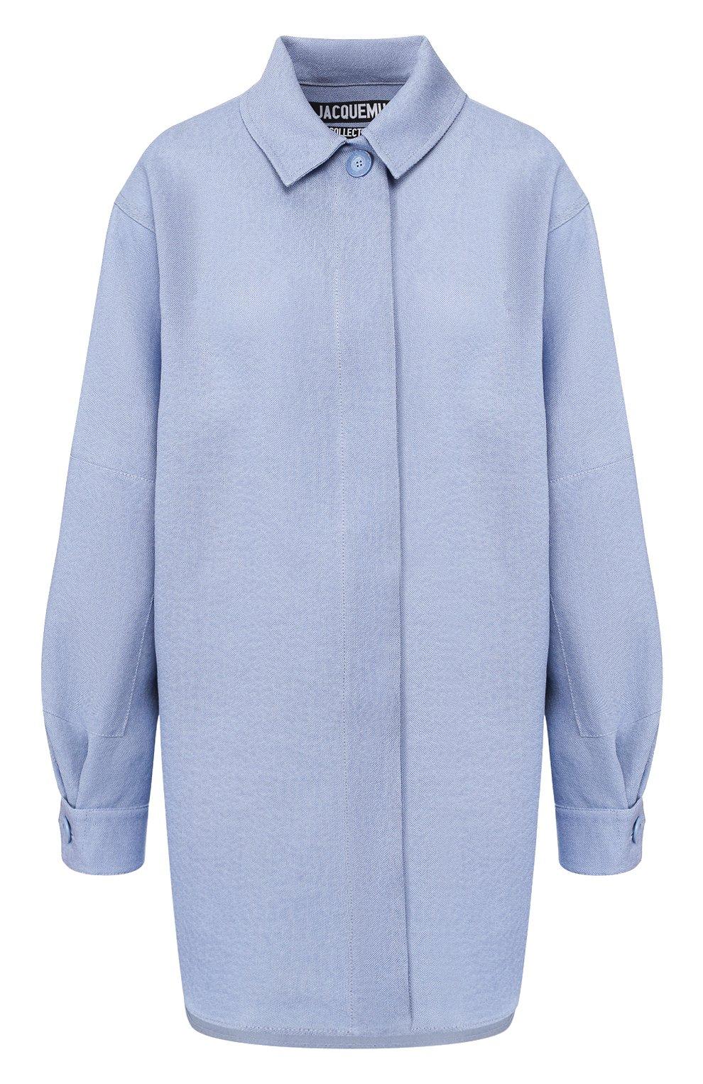 Рубашка из смеси шелка и хлопка   Фото №1