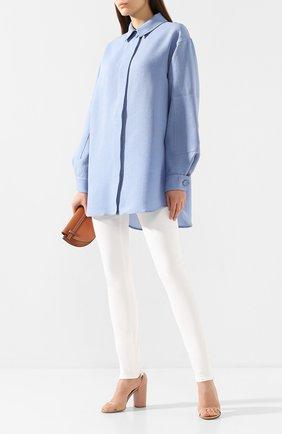 Рубашка из смеси шелка и хлопка   Фото №2