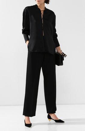 Женские шерстяные брюки MARC JACOBS RUNWAY черного цвета, арт. W2190267   Фото 2