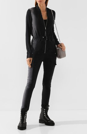 Женский комбинезон RICK OWENS черного цвета, арт. R019F5582/SD | Фото 2