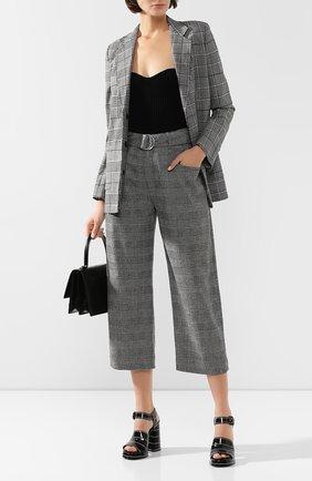 Женские брюки из смеси шерсти и кашемира PROENZA SCHOULER серого цвета, арт. R1946008-AW080S | Фото 2