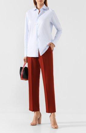 Женские брюки со стрелками FORTE_FORTE красного цвета, арт. 6728 | Фото 2