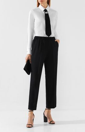Женские брюки со стрелками FORTE_FORTE синего цвета, арт. 6728 | Фото 2