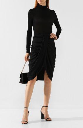 Женская шерстяная юбка ISABEL MARANT черного цвета, арт. JU1052-19H029I/DATISCA | Фото 2