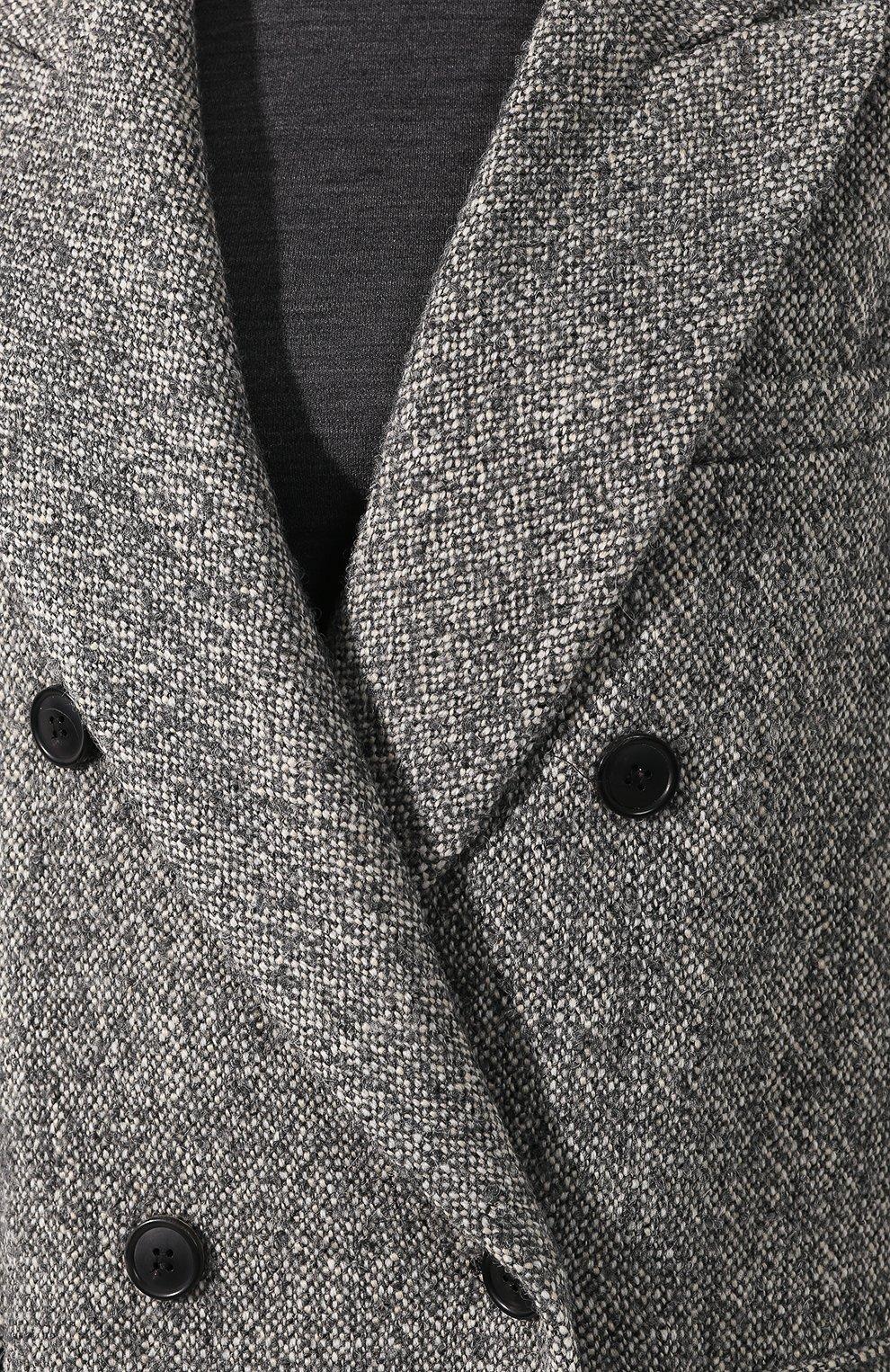 Двубортное пальто   Фото №5