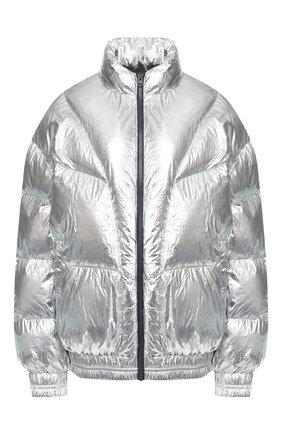 Женский утепленная куртка ISABEL MARANT ETOILE серебряного цвета, арт. MA0592-19A074E/KRISTEN | Фото 1 (Кросс-КТ: Куртка, Пуховик; Рукава от горловины: Длинные; Рукава: Длинные; Женское Кросс-КТ: Пуховик-куртка; Материал внешний: Синтетический материал; Материал подклада: Синтетический материал; Статус проверки: Проверено, Проверена категория; Длина (верхняя одежда): Короткие)