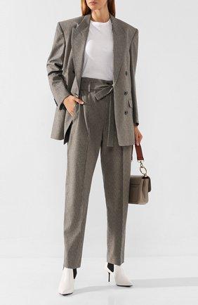 Женские брюки из смеси вискозы и хлопка ISABEL MARANT серого цвета, арт. PA1457-19H016I/EMILIA | Фото 2