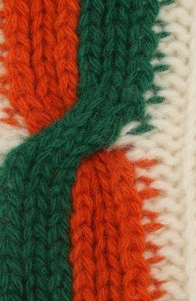 Женские шерстяные носки GUCCI бежевого цвета, арт. 593978/3GE36 | Фото 2
