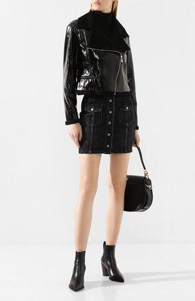 Женская куртка WEILL черного цвета, арт. 111014 | Фото 2 (Материал внешний: Синтетический материал; Статус проверки: Проверена категория; Рукава: Длинные; Длина (верхняя одежда): Короткие; Кросс-КТ: Ветровка, Куртка)