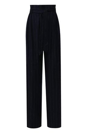 Женские брюки с поясом WEILL синего цвета, арт. 113012 | Фото 1 (Статус проверки: Проверено, Проверена категория; Материал внешний: Полиэстер, Синтетический материал; Женское Кросс-КТ: Брюки-одежда; Случай: Формальный; Силуэт Ж (брюки и джинсы): Широкие; Длина (брюки, джинсы): Удлиненные)