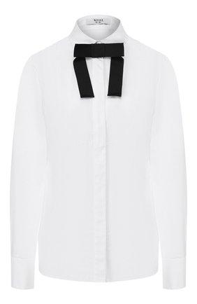 Женская хлопковая рубашка WEILL белого цвета, арт. 117006 | Фото 1 (Рукава: Длинные; Длина (для топов): Стандартные; Материал внешний: Хлопок; Принт: Без принта; Женское Кросс-КТ: Рубашка-одежда; Статус проверки: Проверена категория)