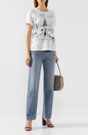 Женская хлопковая футболка WEILL белого цвета, арт. 117502 | Фото 2 (Статус проверки: Проверена категория; Силуэт Ж (для верхов): Оверсайз; Материал внешний: Хлопок; Рукава: Короткие; Длина (для топов): Стандартные; Женское Кросс-КТ: Футболка-одежда)