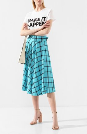 Женская юбка с поясом ALICE + OLIVIA бирюзового цвета, арт. CC907P96301   Фото 2