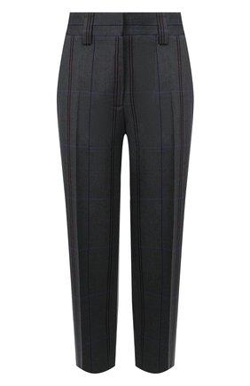 Женские брюки из смеси шерсти и хлопка ACNE STUDIOS серого цвета, арт. AK0125 | Фото 1