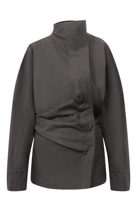 Женская хлопковая рубашка ACNE STUDIOS темно-серого цвета, арт. AC0173 | Фото 1