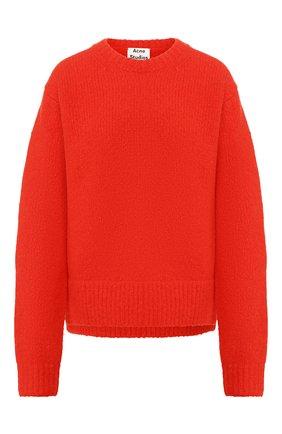 Женская пуловер из смеси шерсти и кашемира ACNE STUDIOS красного цвета, арт. A60097 | Фото 1