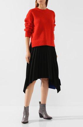 Женская пуловер из смеси шерсти и кашемира ACNE STUDIOS красного цвета, арт. A60097 | Фото 2