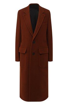 Женское шерстяное пальто AMI коричневого цвета, арт. H19FM002.224 | Фото 1