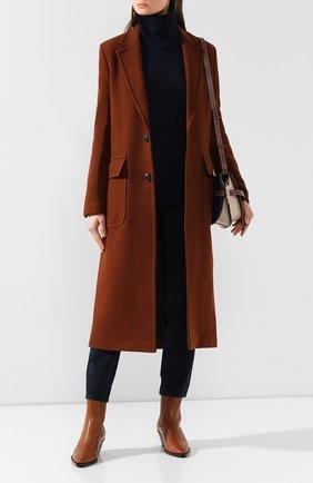 Женское шерстяное пальто AMI коричневого цвета, арт. H19FM002.224 | Фото 2