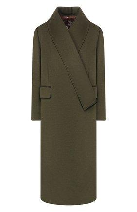 Женское пальто из смеси шерсти и кашемира GOLDEN GOOSE DELUXE BRAND хаки цвета, арт. G35WP172.A1 | Фото 1