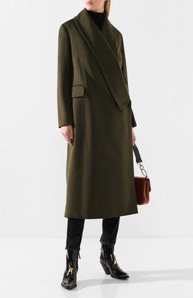 Женское пальто из смеси шерсти и кашемира GOLDEN GOOSE DELUXE BRAND хаки цвета, арт. G35WP172.A1 | Фото 2