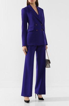 Женские шерстяные брюки GABRIELA HEARST фиолетового цвета, арт. 119208 W005 | Фото 2