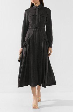 Женское кашемировое платье GABRIELA HEARST темно-серого цвета, арт. 119423 C005 | Фото 2