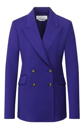 Женский шерстяной жакет GABRIELA HEARST фиолетового цвета, арт. 119500 W005 | Фото 1