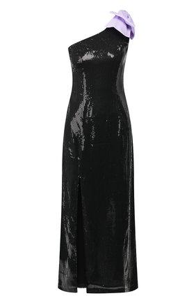 Женское платье с пайетками OLIVIA RUBIN черного цвета, арт. 0R0190/VI0LET DRESS | Фото 1