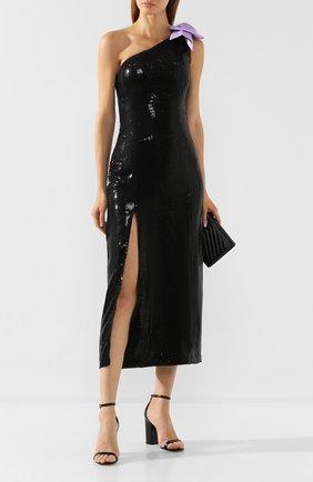 Женское платье с пайетками OLIVIA RUBIN черного цвета, арт. 0R0190/VI0LET DRESS | Фото 2
