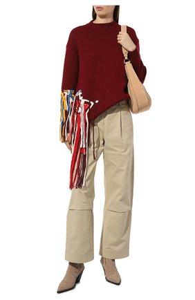 Женская шерстяной свитер OSCAR DE LA RENTA бордового цвета, арт. 19FE1439SWS | Фото 2