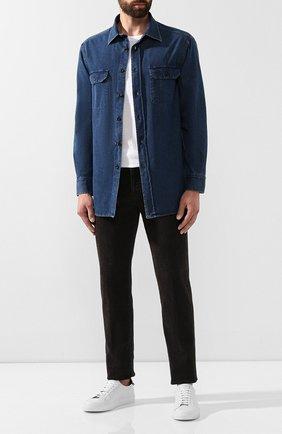 Мужская джинсовая рубашка BRIONI темно-синего цвета, арт. SCAZ0L/08D30 | Фото 2