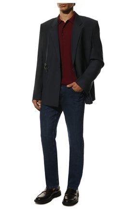 Мужское поло из смеси кашемира и шелка KITON бордового цвета, арт. UK11041 | Фото 2