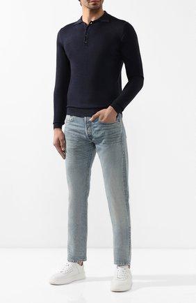 Мужские джинсы RRL голубого цвета, арт. 782504838 | Фото 2