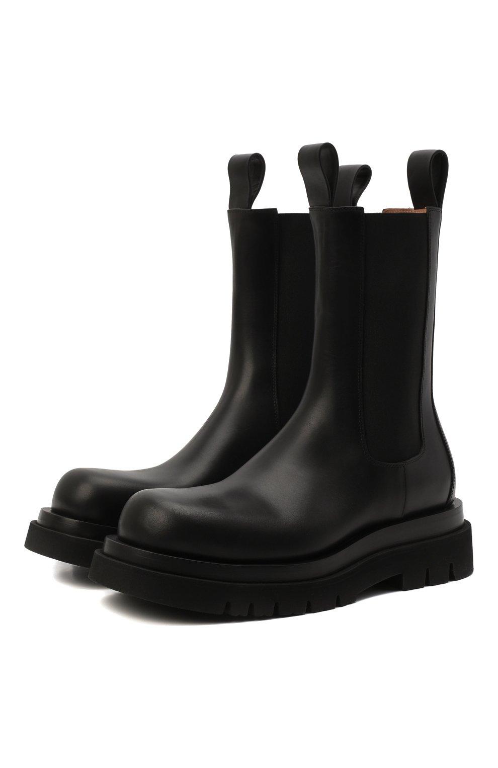 Мужские кожаные челси lug BOTTEGA VENETA черного цвета, арт. 592081/VIFH0 | Фото 1 (Каблук высота: Высокий; Высота голенища: Высокие; Материал внутренний: Натуральная кожа; Подошва: Массивная; Мужское Кросс-КТ: Сапоги-обувь, Челси-обувь; Статус проверки: Проверена категория)