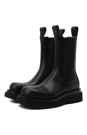 Мужские кожаные челси BOTTEGA VENETA черного цвета, арт. 592081/VIFH0 | Фото 1