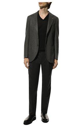 Мужской пуловер из шерсти и шелка GRAN SASSO черного цвета, арт. 57115/13190 | Фото 2