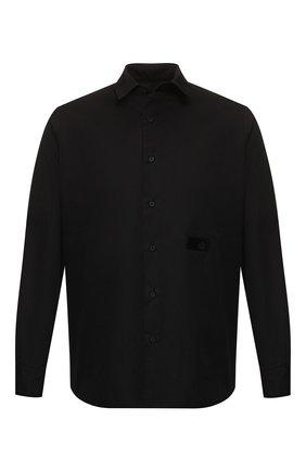 Мужская хлопковая рубашка RTA черного цвета, арт. MF9164-0131BLK | Фото 1
