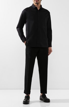 Мужская хлопковая рубашка RTA черного цвета, арт. MF9164-0131BLK | Фото 2