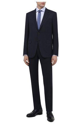 Мужская хлопковая сорочка VAN LAACK голубого цвета, арт. RIVARA-SF/130148 | Фото 2 (Длина (для топов): Стандартные; Рукава: Длинные; Статус проверки: Проверено; Материал внешний: Хлопок; Случай: Формальный)