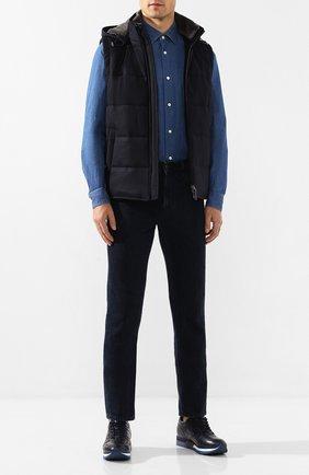 Мужская джинсовая рубашка Z ZEGNA синего цвета, арт. VT225/ZZC20 | Фото 2