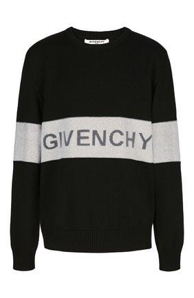 Мужской шерстяной свитер GIVENCHY черно-белого цвета, арт. BM90AP4Y4Y | Фото 1