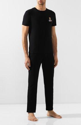 Мужские хлопковая футболка MOSCHINO черного цвета, арт. A1905/8103 | Фото 2