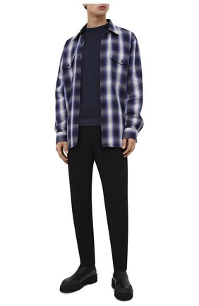 Мужские шерстяные брюки HARRIS WHARF LONDON черного цвета, арт. C7015MYM | Фото 2 (Материал внешний: Шерсть; Статус проверки: Проверено, Проверена категория; Длина (брюки, джинсы): Стандартные; Случай: Повседневный)